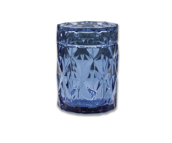 Large Diamond Cut Jar Navy Blue R 16 Luxury Candle Supplies