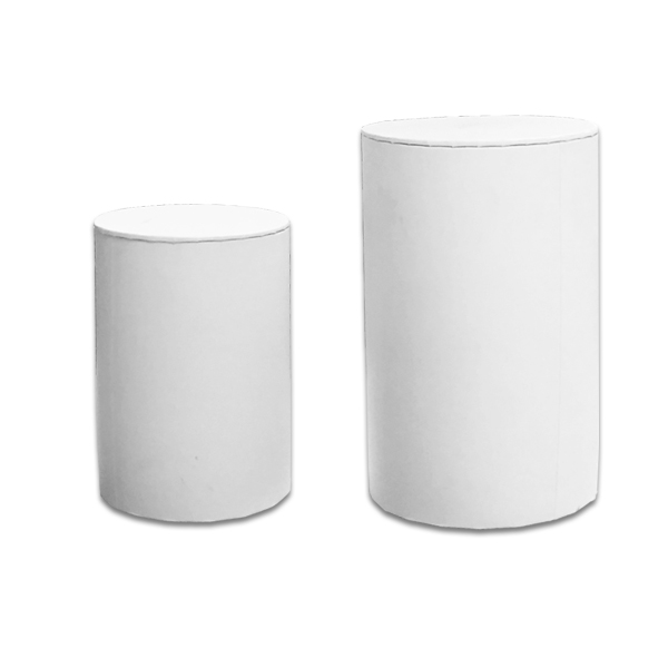 Large Cylinder Box White L3 Luxury Candle Supplies