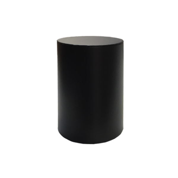 Large Cylinder Box Black L2 Luxury Candle Supplies