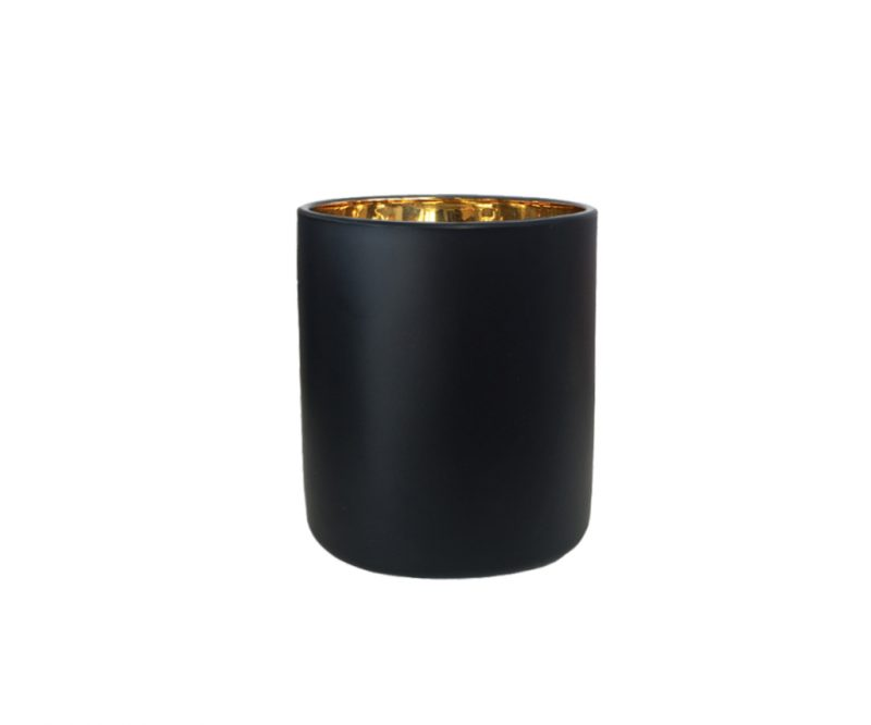 Small Vogue Jar Lux Black Luxury Candle Supplies