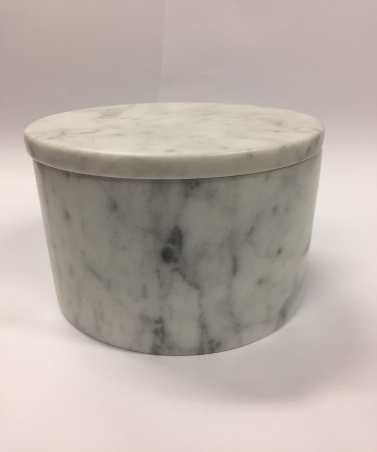 White Marble Round Container Luxury Candle Supplies
