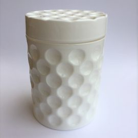 Dimple Jar White