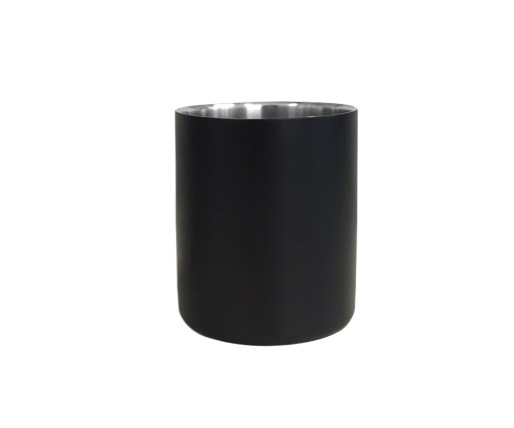 Raw Metal Tumbler - Matte Black