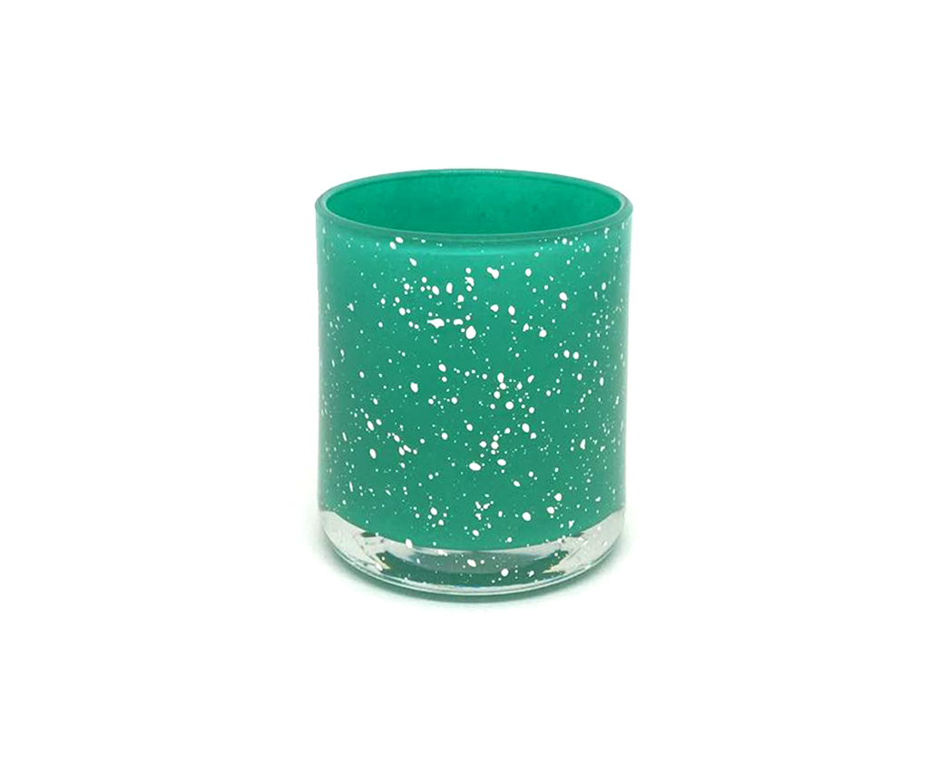 Small Vogue Sparkle Teal With Silver Speckles Luxury