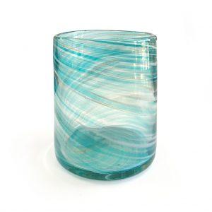 Extra Large Vogue Texas Jar - Mint Blue Swirls | Luxury ...